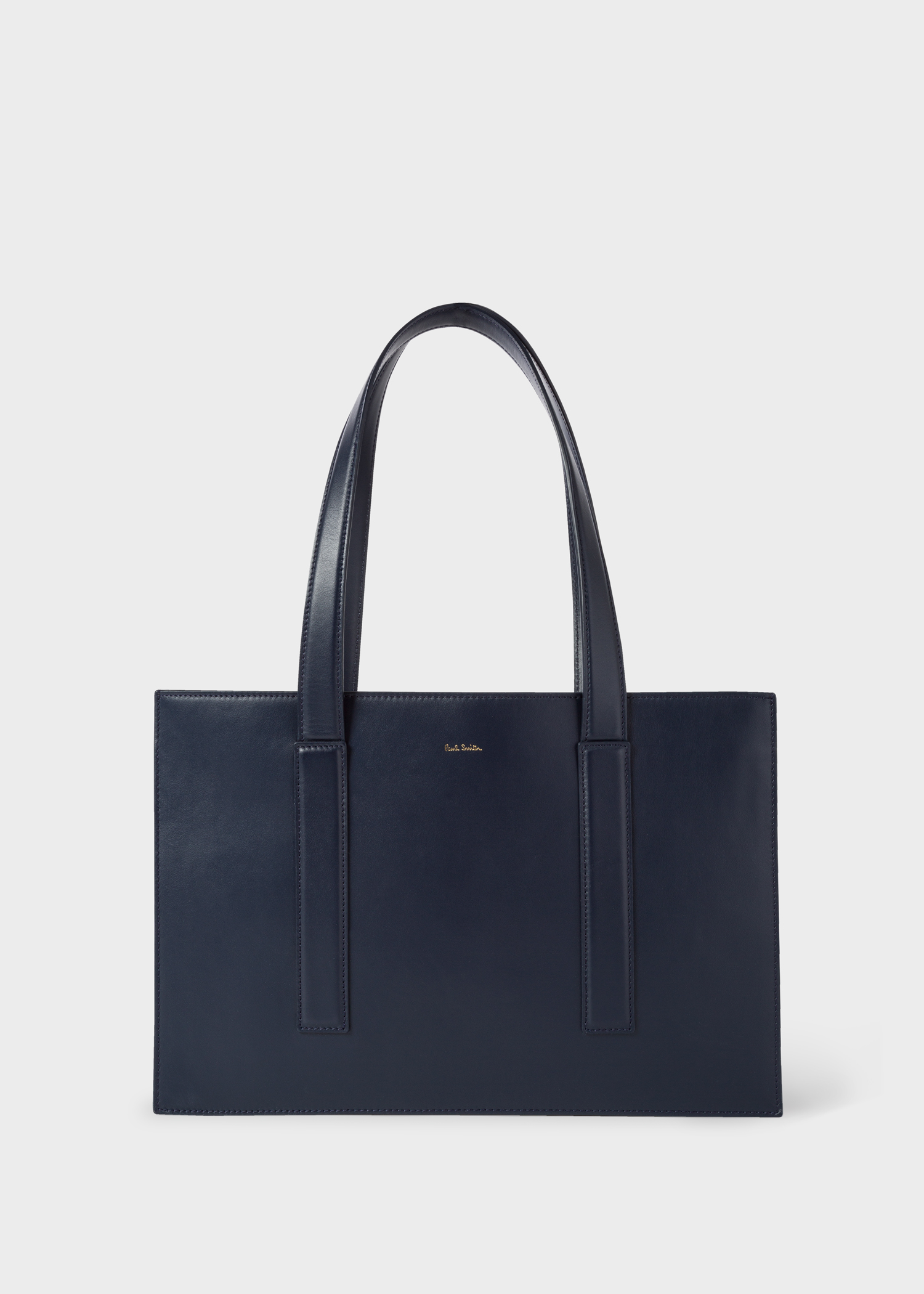830c4731a0 Women s Navy  Concertina Swirl  Small Leather Tote Bag - Paul Smith Asia