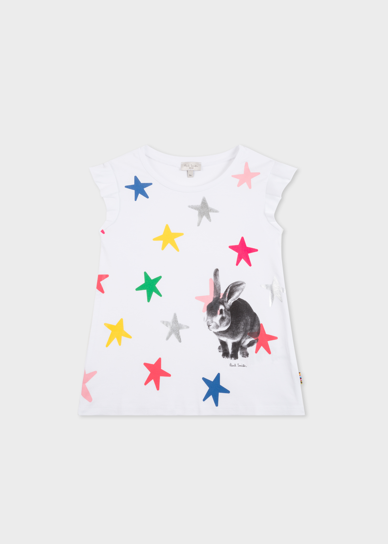 324e029b Girls' 2-6 Years White 'Rabbit & Stars' Print T-Shirt - Paul Smith ...
