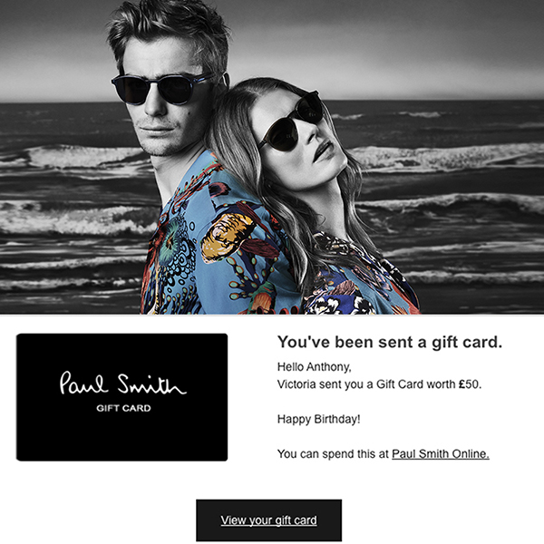 Paul smith gift cards paul smith negle Image collections