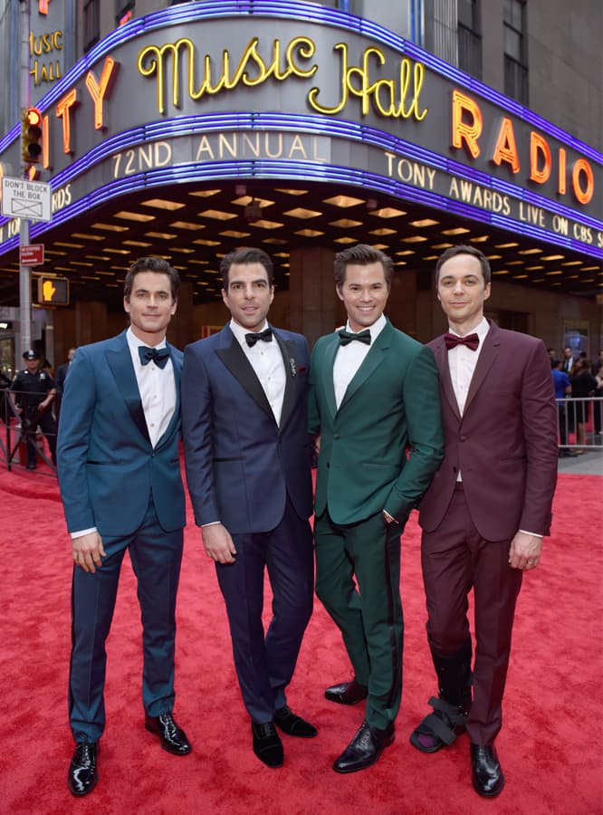 'The Boys in the Band' Stars wear Paul Smith to the Tony Awards