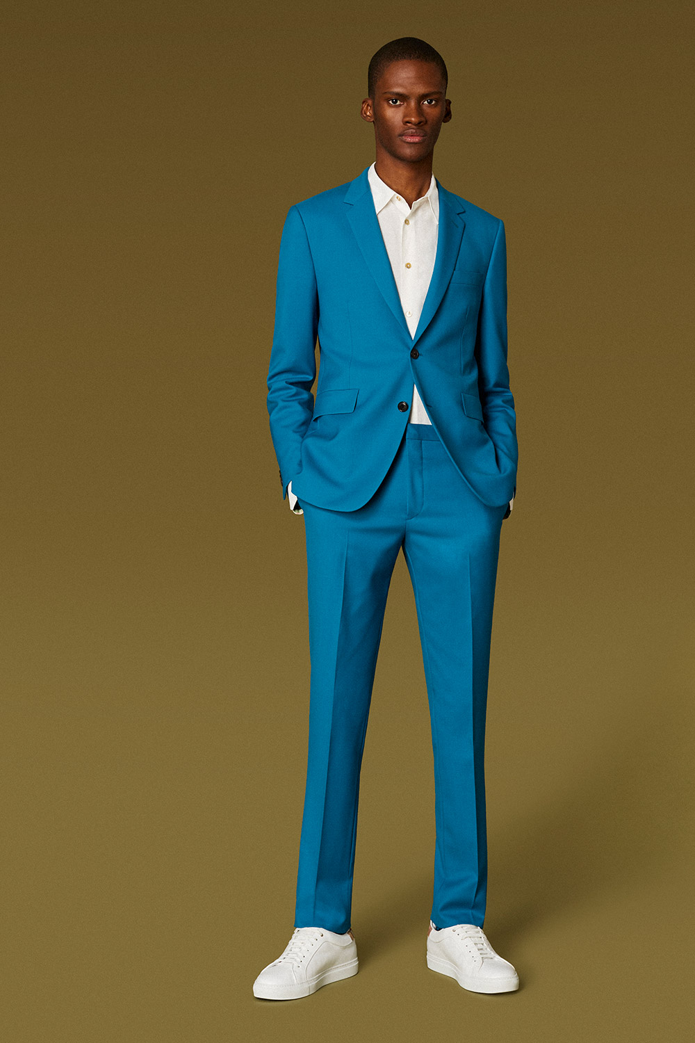78fb99727a3d7d Paul Smith Suit Care Guide, Turquoise 'A Suit to Travel In' Suit Full